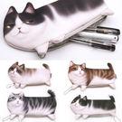 韓版 貓咪收納袋 筆袋 鉛筆盒 文具 辦公室小物 環保餐具盒  收納袋 手機包 貓奴 多功能【RB436】