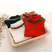 長袖T恤-秋冬季韓女童童裝加絨加厚高領T恤兒童寶寶翻領打底衫tx-4071 依夏嚴選