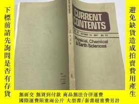 二手書博民逛書店CURRENT罕見CONTENTS 1987.43Y383796 CURRENT CONTENTS CURRE