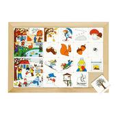 卡片分類遊戲-四季系列秋天與冬天 兒童幼兒教具玩具道具分配對遊戲排列拼湊季節學習顏色形狀