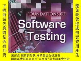二手書博民逛書店Foundations罕見Of Software TestingY256260 Aditya P. Mathu