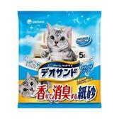 日本Unicharm消臭大師 尿尿後消臭貓砂-肥皂香5L x 4入