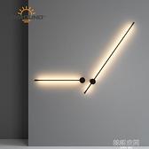 簡約背景墻裝飾創意過道樓梯壁燈 直線條造型壁掛臥室床頭LED壁燈