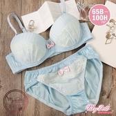 【65B-100H】薄荷蒲公英 日系蕾絲雪紡單內衣(粉藍色) MyDoll
