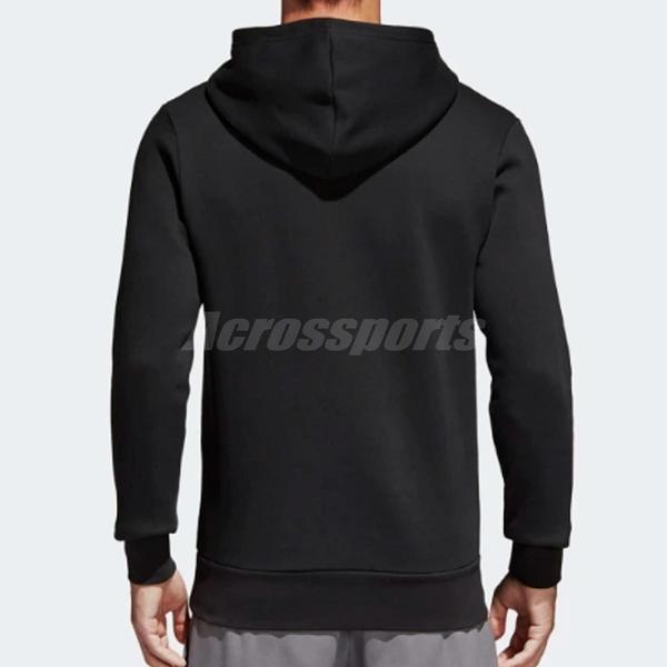 adidas 帽T Essentials Logo Hoodie 黑 白 基本款 長袖連帽上衣 男款 【ACS】 S98769