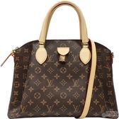 【Louis Vuitton 路易威登】M44546 RIVOLI MM經典花紋手提/斜背兩用包(咖啡色)
