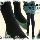 ※現貨_麻花坑紋棉質打底內搭褲襪 綠色【L1025043】