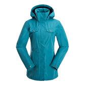 【聖伯納St. Bonalt】女-英倫風時尚可拆式連帽防潑風衣(0169)-深藍 防水 防風 保暖 中長板 修身 抽繩