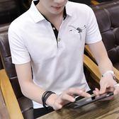 夏季純棉體恤男士短袖t恤半截袖韓版翻領polo衫潮流男裝衣服 魔方數碼館