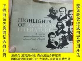 二手書博民逛書店英文書罕見highlights of american literature book1 美國文學集錦1冊Y1
