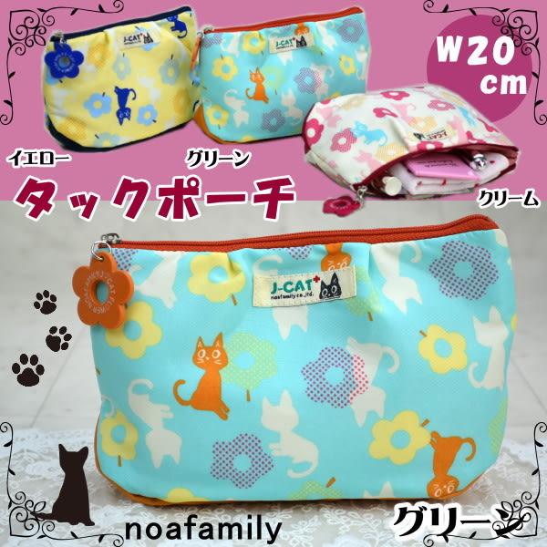 Noafamily 日本諾亞家族 貓咪造型可愛化妝包 防水 J-CAT 該該貝比日本精品 ☆