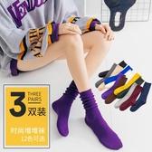 長襪子女ins潮街頭網紅款韓國日擊堆堆襪女薄款春秋冬韓版中筒襪 韓國時尚週