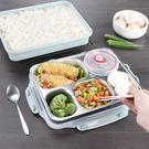 保溫飯盒便當盒密封湯碗外賣食堂1層分格快餐盤成人餐盒艾維朵