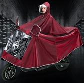 雨衣 卓菲圖電動摩托車加大雨衣電瓶車加厚單人提花男女騎行雙帽檐雨披【快速出貨八折鉅惠】