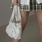 云朵包包女2020春夏新款摺皺包OL通勤百搭腋下包軟面側背包手提包 韓國時尚週