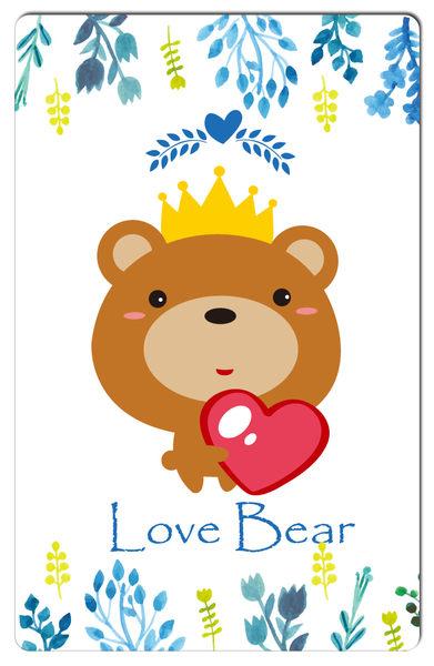 【悠遊卡貼紙】LOVE BEAR # 悠遊卡/e卡通/感應卡/門禁卡/識別證/icash/會員卡/多用途卡片型貼紙