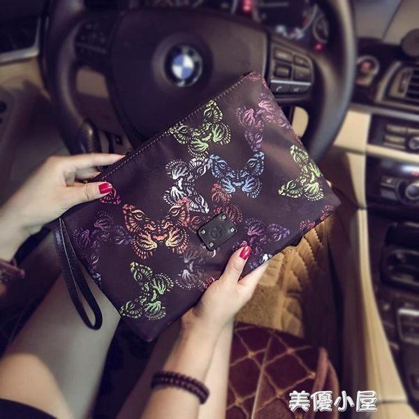 2018新款原創設計韓版手包 新款蝴蝶圖案手拿包 潮流尚男女手拿包