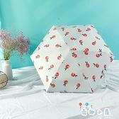 折傘女晴雨兩用雨傘迷你折疊防曬防紫外線太陽傘折疊傘【奇趣小屋】