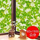 日本製造 MEIWA 節能抗UV靜電無背膠窗貼 (綠葉盈窗) - 92x1500公分
