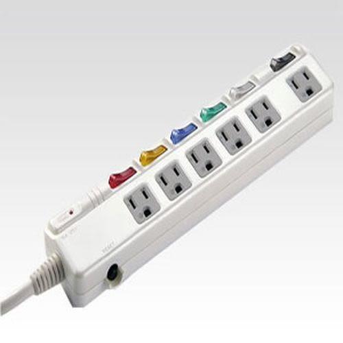 安全達人 3P感溫電腦延長線 6座6切 15尺/4.5m (S-7615)
