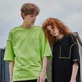 反叛縫製寬版T STAGE REVERSE SEWN OVERSIZED TEE 黑色/螢光綠 兩色