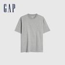 Gap男裝 棉質舒適厚磅純色圓領短袖T恤 590048-淺灰色