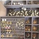 三層透明抽屜耳釘耳環項鏈飾品收納盒首飾盒耳飾戒指手飾品珠寶盒