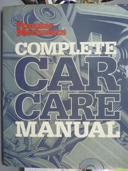 【書寶二手書T2/大學理工醫_PNI】Complete Car Care Manual_Popular Mechanic