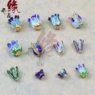 [超豐國際]DIY花托飾品景泰藍工藝半成品手鏈項鏈飾品配件直1入
