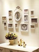 歐式照片墻實木相框墻客廳創意組合相片框掛墻簡約現代裝飾連體掛 英雄聯盟igo