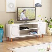 電視櫃北歐電視櫃簡約現代日式臥室小戶型歐式電視機櫃實木白色地櫃60高XW 好康免運