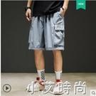 男士夏季工裝短褲韓版潮流百搭五分中褲子男生外穿寬鬆運動休閒褲 小艾新品