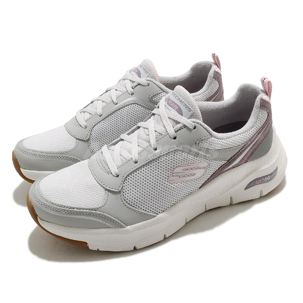 Skechers 健走鞋 Arch Fit Gentle Stride 女鞋 灰 紫 足科醫師推薦 運動鞋 【ACS】 149413LGPR