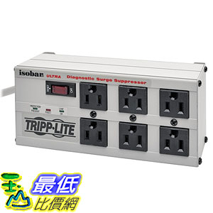 [美國直購] Tripp Lite ISOBAR6ULTRA 插座 Isobar 6 Outlet Protector Power Strip 6ft Cord Right Angle Plug 3300 Joules
