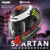[中壢安信]SHARK SPARTAN Replica Lorenzo Monster 安全帽 HE3457 KRG