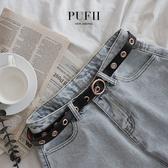 限量現貨★限量現貨★PUFII-皮帶 金屬釦環皮帶-0516 現+預 春【CP16717】
