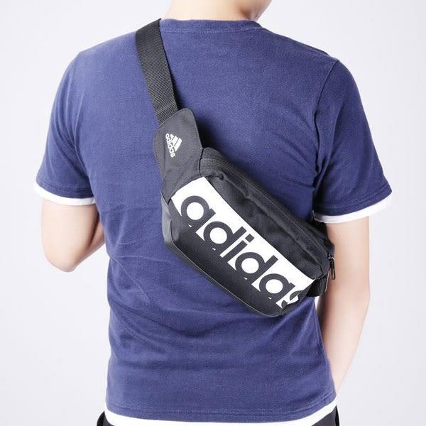 ADIDAS 黑色 三條線 腰包 側背 肩背 隨身小包 S99983 ☆SP☆