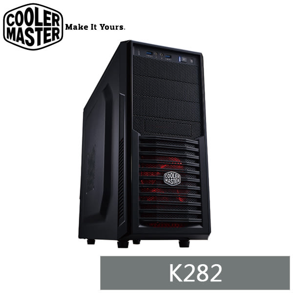 【免運費-贈行動電源】CoolerMaster 黑化機殼 K282 ATX / RC-K282-KKN1