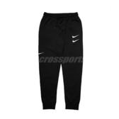 Nike 長褲 NSW Swoosh Pants 黑 白 男款 棉褲 縮口褲 運動休閒 【PUMP306】 CJ4881-010