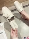 熱賣穆勒鞋 中跟小皮鞋女2021年涼拖新款2021拖鞋外穿包頭半拖鞋子網紅穆勒鞋 coco