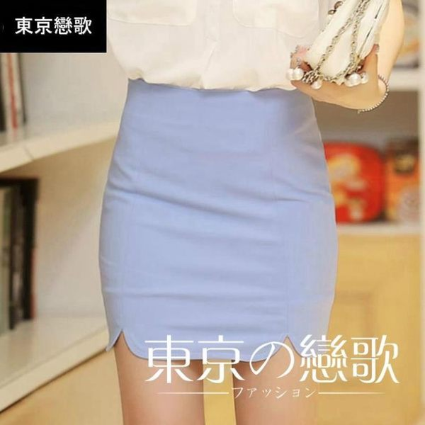 窄裙 OL 高腰大碼彈力包臀半身職業裙
