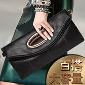 手拿包女士簡約手提包包女包手包小包大容量手抓包側背包  『魔法鞋櫃』