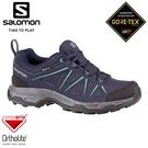【SALOMON 索羅門 女 TIBAI 2 GTX 低筒登山鞋《海軍藍/海軍藍/藍》】412285/戶外鞋/登山