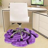 歐式圓形客廳臥室床邊吊籃轉椅電腦椅玫瑰花房間兒童婚慶婚房地毯【這店有好貨】
