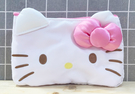 【震撼精品百貨】Hello Kitty 凱蒂貓~Hello Kitty日本SANRIO三麗鷗KITTY化妝包/筆袋-蝴蝶結大臉*45341