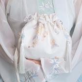 原創中國風漢服刺繡帆布斜挎包手機包仙女荷包百搭日常漢服女
