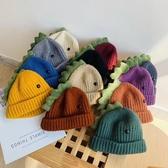 寶寶秋冬帽 童帽 寶寶帽 保暖帽 恐龍頭針織套頭帽 (1歲-3歲)【ZJA001】