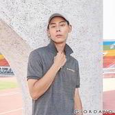 【GIORDANO】 男裝運動系列抗皺休閒POLO衫-09 花紗深灰