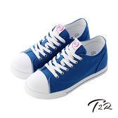 【T2R】增高7cm經典款休閒氣墊帆布鞋 藍色 (7100-0008)