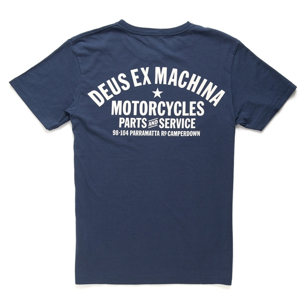 Deus Ex MachinaCAMPERDOWN ADDRESS T恤 - 藍